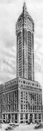 Singer Building. Photograph from New York Illustrated (c 1925).