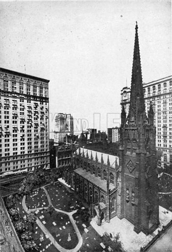 Trinity Church. Photograph from New York Illustrated (c 1925).