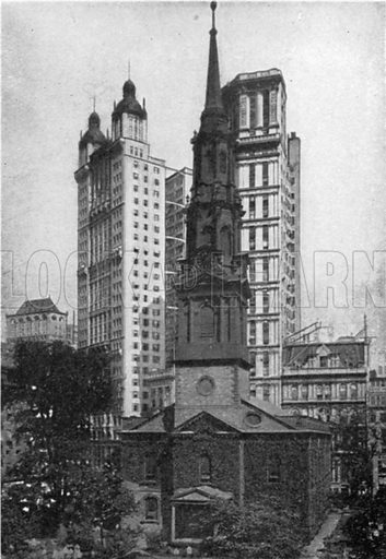 Saint Paul's Chapel. Photograph from New York Illustrated (c 1925).