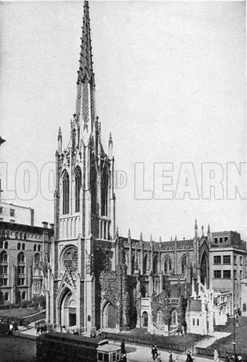 Grace Church. Photograph from New York Illustrated (c 1925).