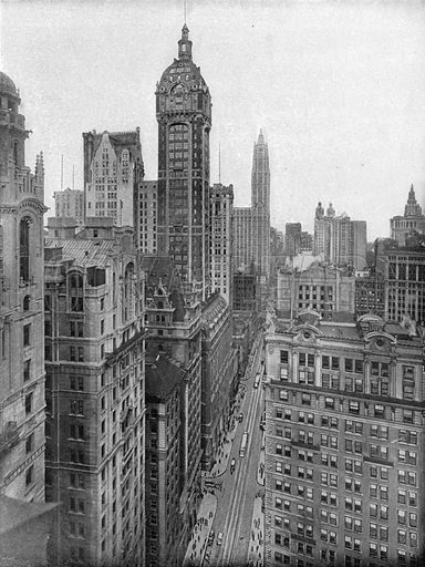 Broadway, Downtown. Photograph from New York Illustrated (c 1925).