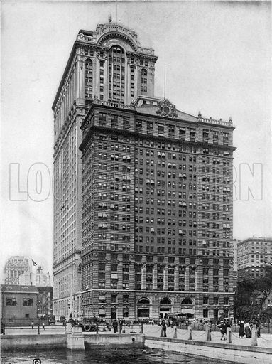 Whitehall Buildings. Photograph from New York Illustrated (c 1925).