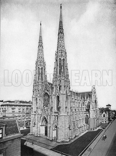 St. Patrick's Cathedral. Photograph from New York Illustrated (c 1925).