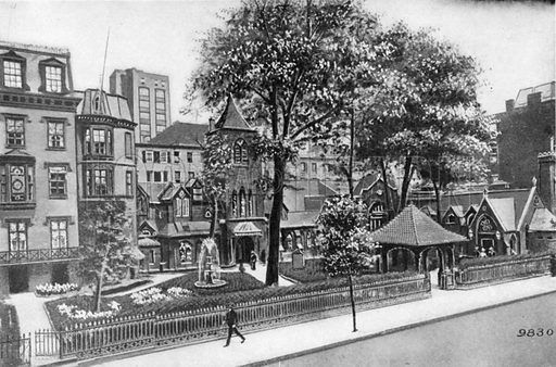 The Little Church Around the Corner. Photograph from New York Illustrated (c 1925).