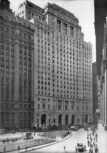 Cunard Building and Bowling Green. Photograph from New York Illustrated (c 1925).