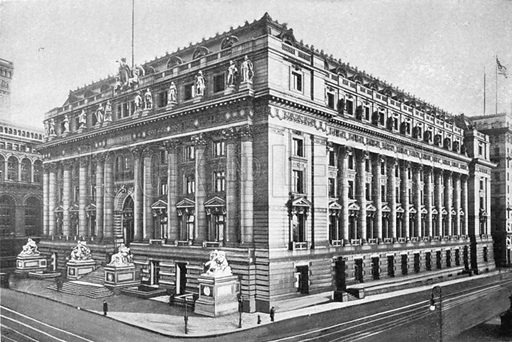 US Custom House. Photograph from New York Illustrated (c 1925).