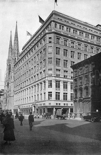 Saks New Department Store. Photograph from New York Illustrated (c 1925).