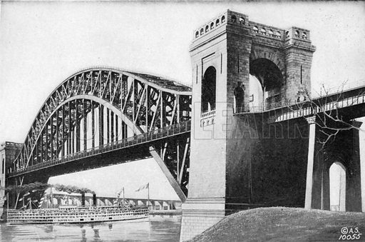 Hell Gate Bridge. Photograph from New York Illustrated (c 1925).