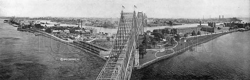Blackwell's Island and Queensboro Bridge. Photograph from New York Illustrated (c 1925).