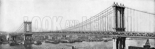 Manhattan Bridge. Photograph from New York Illustrated (c 1925).