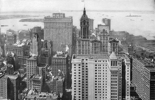 Lower New York and Bay. Photograph from New York Illustrated (c 1925).
