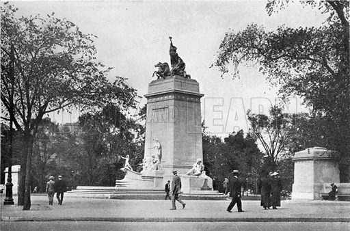 Maine Monument. Photograph from New York Illustrated (c 1925).