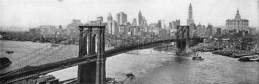 Brooklyn Bridge. Photograph from New York Illustrated (c 1925).