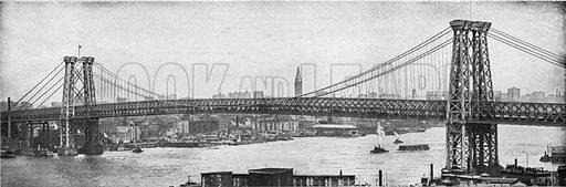 Williamsburg Bridge. Photograph from New York Illustrated (c 1925).