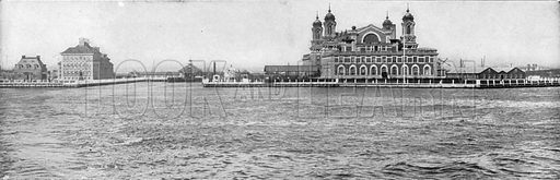 Ellis Island. Photograph from New York Illustrated (c 1925).
