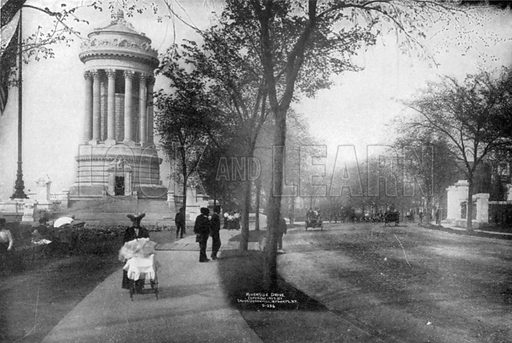 Soldiers' and Sailors' Monument. Photograph from New York Illustrated (c 1925).