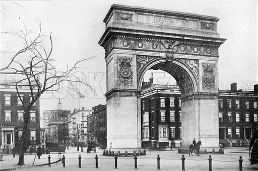 Washington Arch. Photograph from New York Illustrated (c 1925).