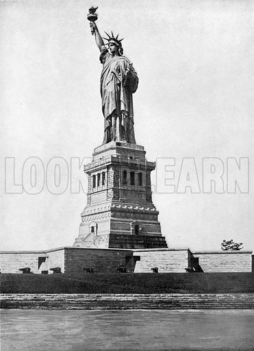 The Statue of Liberty. Photograph from New York Illustrated (c 1925).