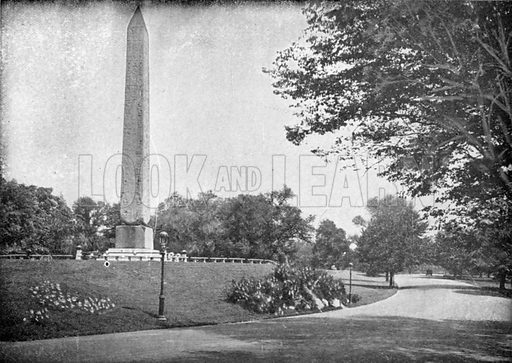 Obelisk, Central Park. Photograph from New York Illustrated (c 1925).