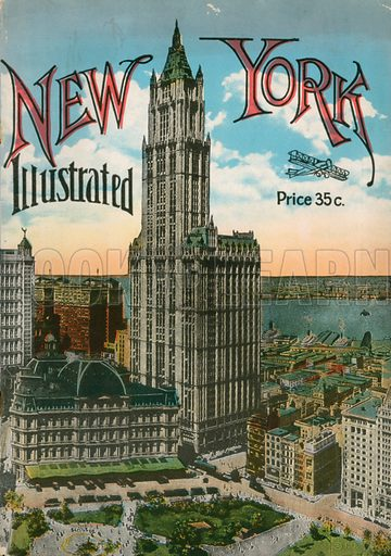 New York Illustrated Title Page. Photograph from New York Illustrated (c 1925).