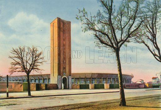 Torino – Stadio Mussolini. Photograph from Ricordo di Torino (c 1930).