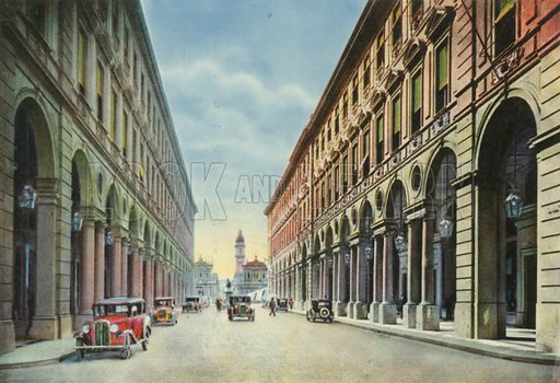 Torino – Nuova via Roma. Photograph from Ricordo di Torino (c 1930).