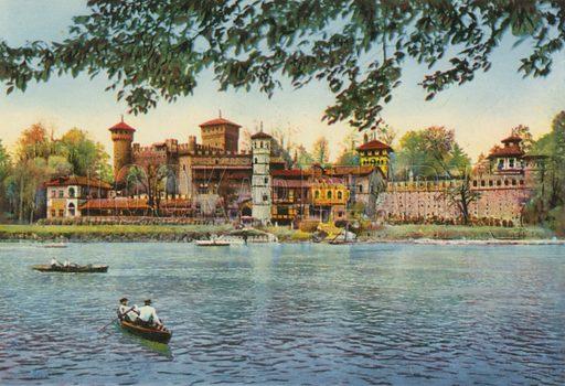 Torino – Il Castello Medioevale. Photograph from Ricordo di Torino (c 1930).