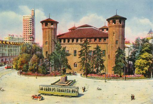Torino - Palazzo Madama e Torre Littoria. Photograph from Ricordo di Torino (c 1930).