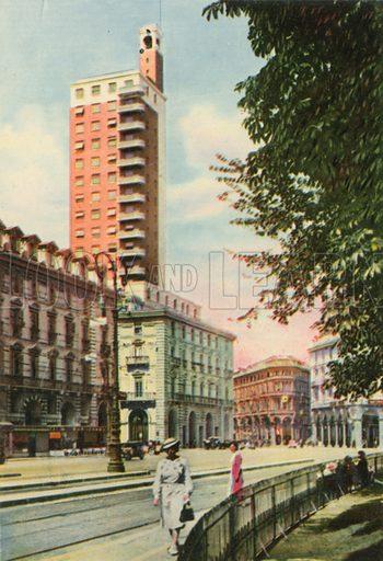 Torino - Torre Littoria. Photograph from Ricordo di Torino (c 1930).