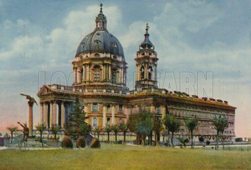 Torino - Reale Basilica di Soperga. Photograph from Ricordo di Torino (c 1930).