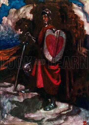 Mr Greatheart. Illustration for The Pilgrim's Progress (Charles Scribner, c 1910).