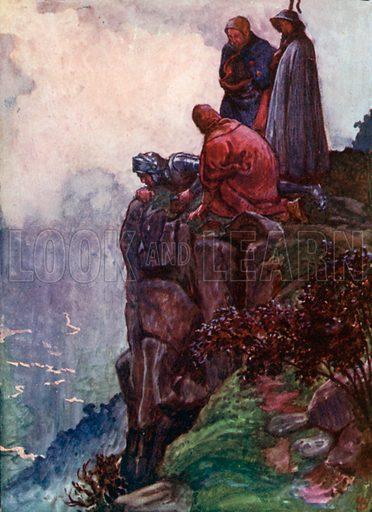 Hill Error. Illustration for The Pilgrim's Progress (Charles Scribner, c 1910).