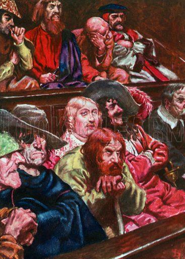 The Jury. Illustration for The Pilgrim's Progress (Charles Scribner, c 1910).