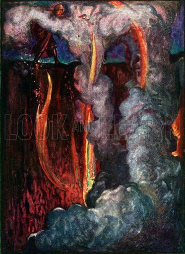 Hell Mouth. Illustration for The Pilgrim's Progress (Charles Scribner, c 1910).