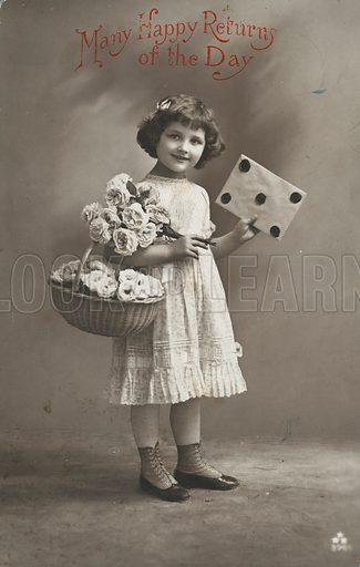 Edwardian postcard featuring children.