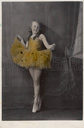 Girl in ballet dress.