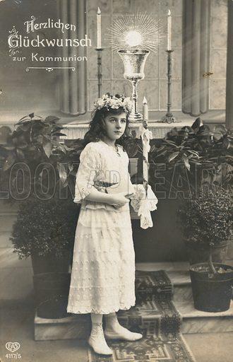 First communion card.