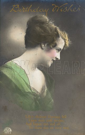Edwardian postcard featuring beauty.