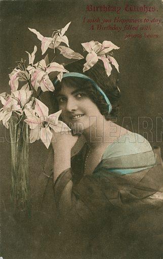 Edwardian postcard featuring beauty.