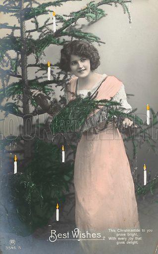 Girl and Christmas Tree.