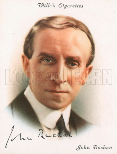 John Buchan. Illustration for Wills's Cigarette card.