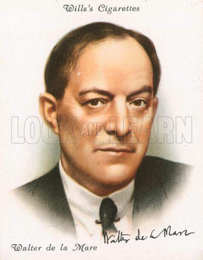 Walter de la Mare. Illustration for Wills's Cigarette card.