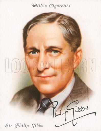 Sir Philip Gibbs. Illustration for Wills's Cigarette card.