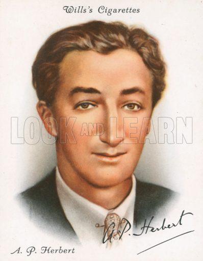 AP Herbert. Illustration for Wills's Cigarette card.