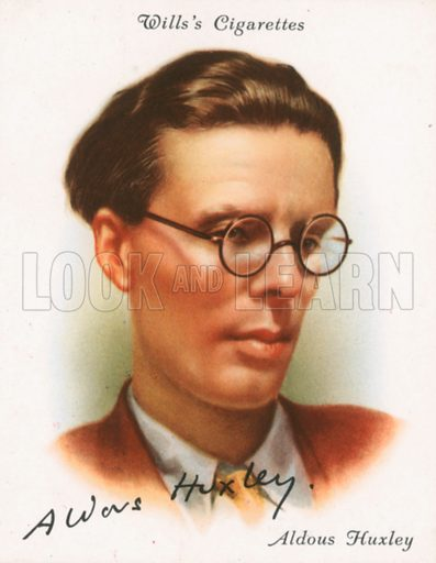 Aldous Huxley. Illustration for Wills's Cigarette card.