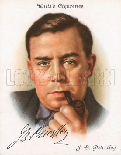JB Priestley. Illustration for Wills's Cigarette card.