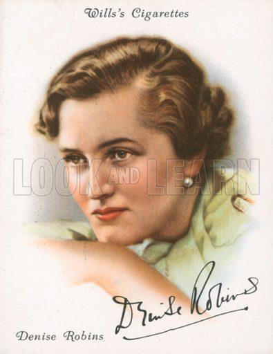 Denise Robins. Illustration for Wills's Cigarette card.