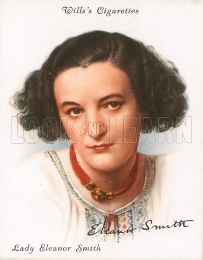 Lady Eleanor Smith. Illustration for Wills's Cigarette card.