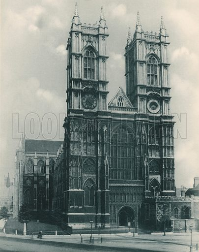 The West Front. Twenty-Four Gems of Westminster Abbey (The Graphotone, c 1890).