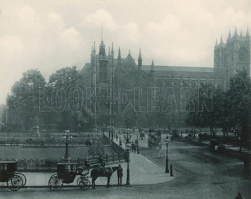 The Abbey from the North. Twenty-Four Gems of Westminster Abbey (The Graphotone, c 1890).